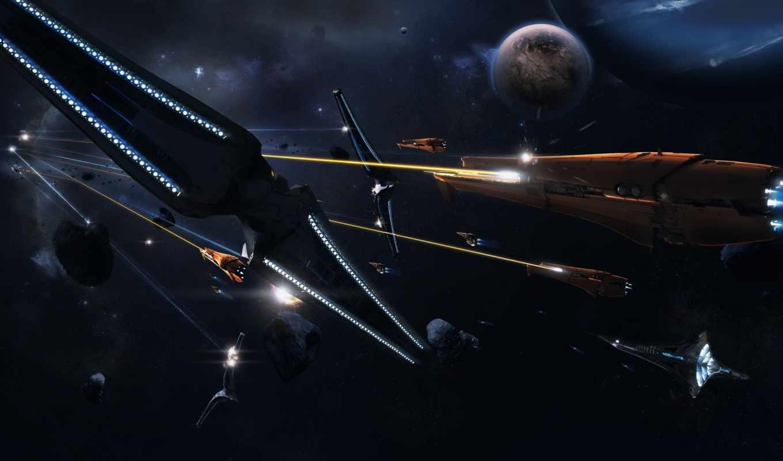 art, digital, корабли, abstract, космическая, астероиды, космический, космические, война, планета, лучи, корабль, баталия, картинка, ales, ai, desktop,