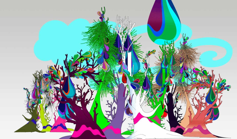 деревья, art, desktop, high, windows, вектор, pictures, лес, picture, seven, illustration, klik,