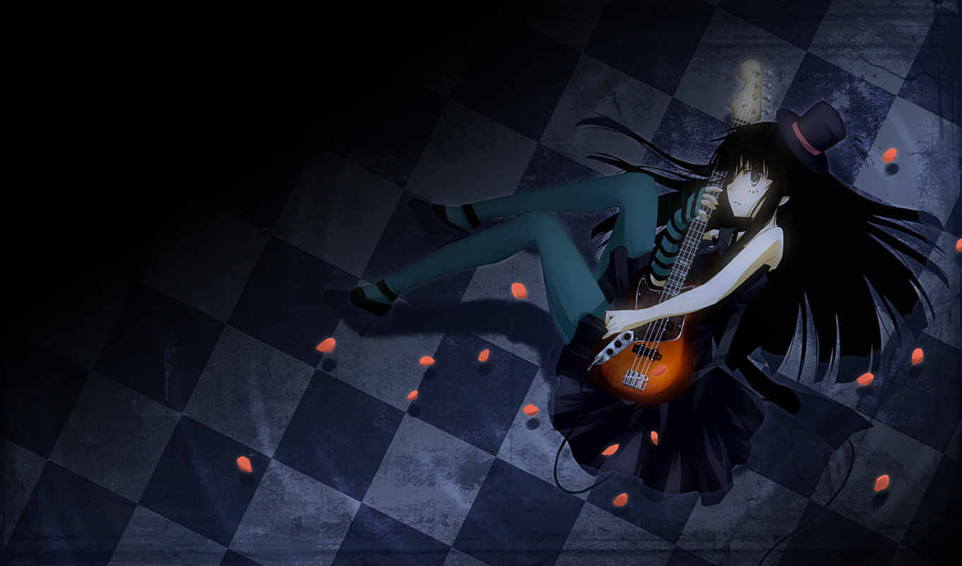anime, widescreen, manga, картинку, guitar, mioakiyamawallpaper, мио, mio, download, desktop,