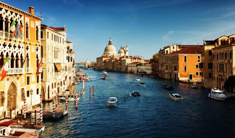canal, venice, grande, grand, italian, venezia, italy, kanal, фотообои,