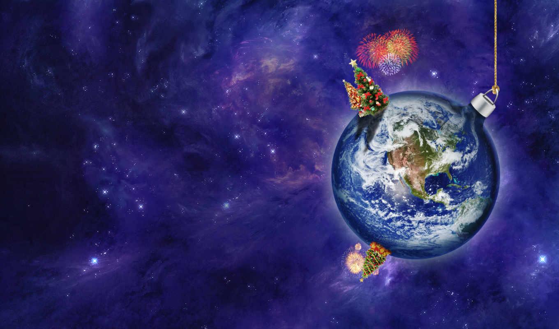 new, год, cosmic, поздравление, postcard, новый год