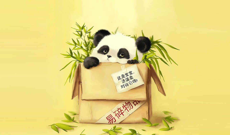 панда, бамбук, фото, превью, широкоформатные,