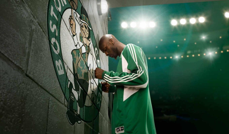 бостон, баскетбол, прожектора, garnett, kevin, celtics, картинка, nba, спорт, картинку,