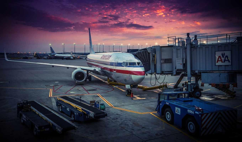 американский, airlines, самолёт, airport, часть, air, только, авиабилеты, дек, chicago, usa,