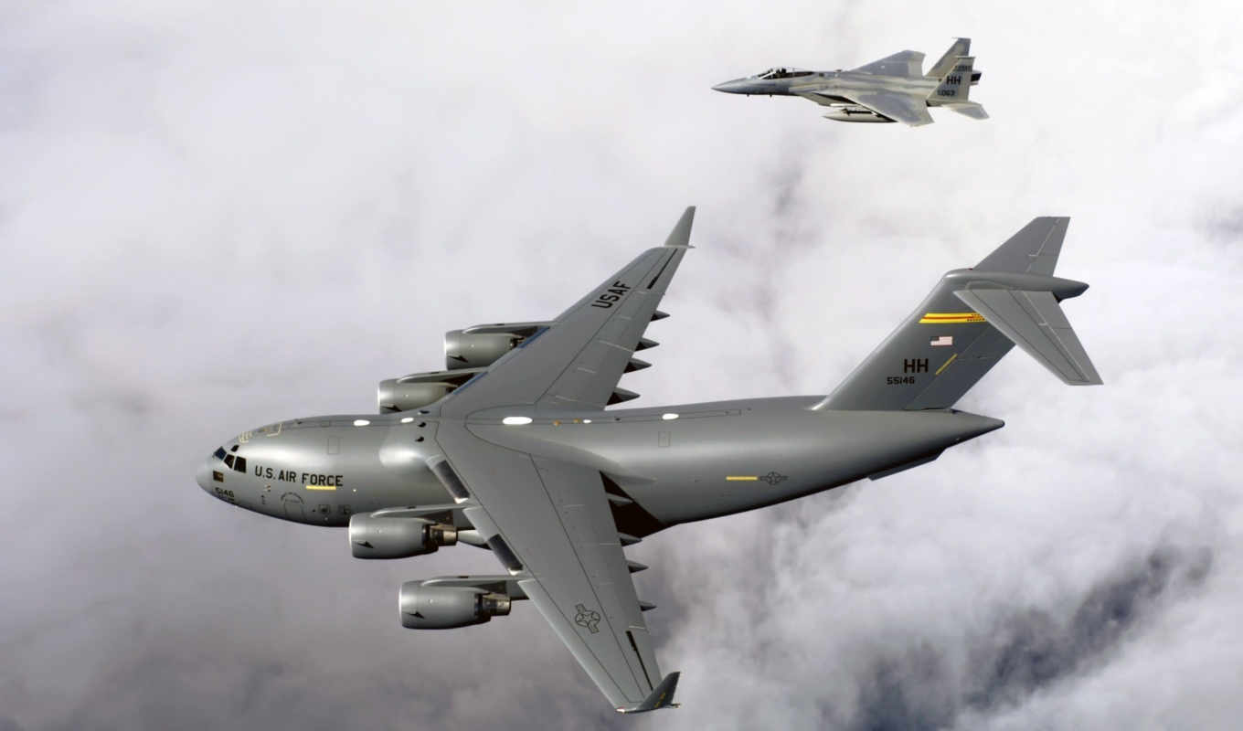 air, force, globemaster, iii, eagles, military, aircraft, high, download, widescreen,