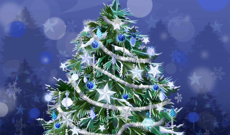 новогодняя, дерево, год, дек, new, елочные, шарики,