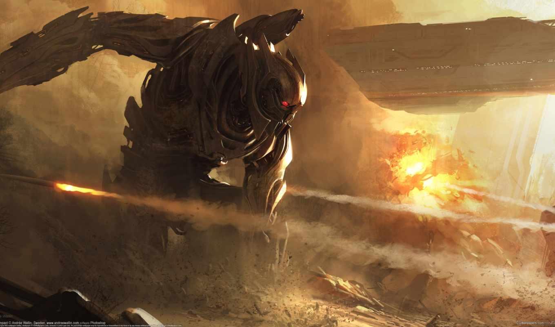 ,andree wallin, робот, воин,взрыв, корабль, ракета,
