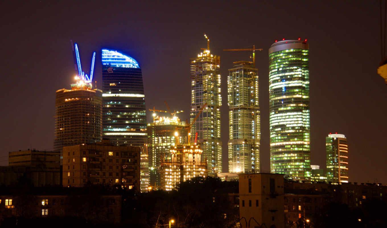 москва, город, ночь,