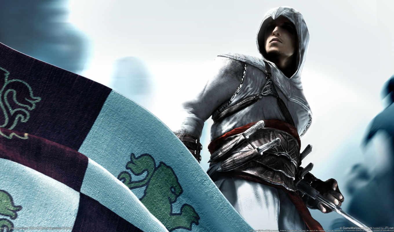 creed, assassins, assassin, флаг, страница,