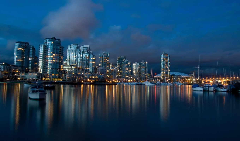 города, взгляд, вечер, город, other, категории, vancouver, код, виды, отражение,