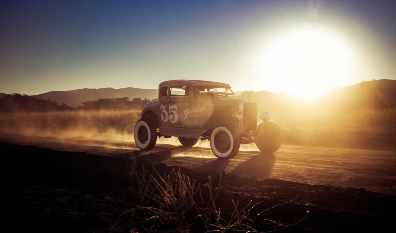 дорога, ford, car, машина, дорогой, модель, off, свет, rod
