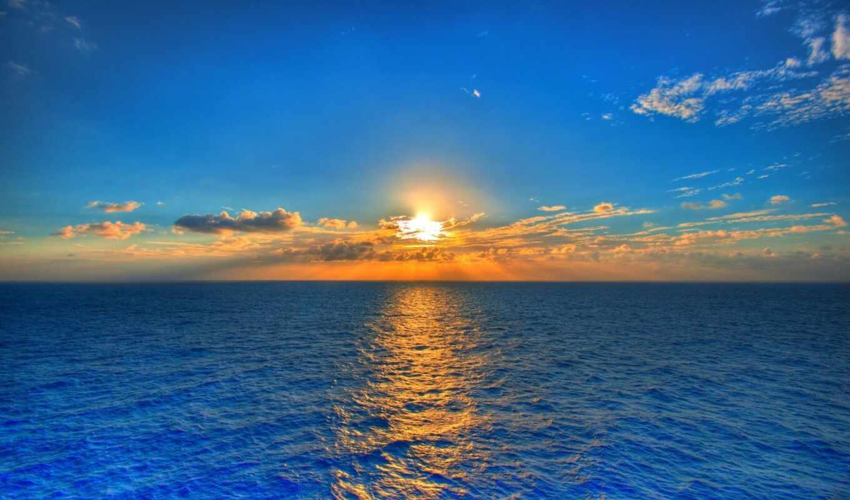 солнце, небо, море, природа, закат, пейзаж, облака, special, вода, картинка,