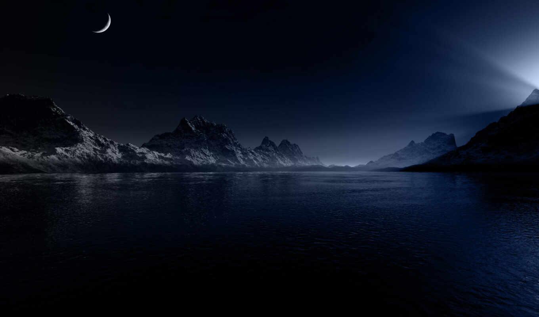 ночь, категория, совершенно, горы, природа,