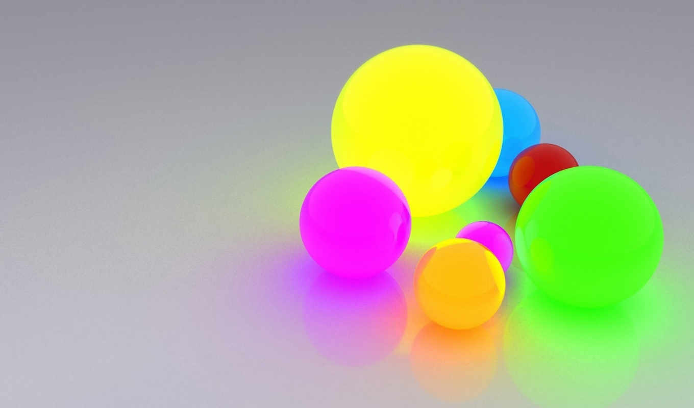шары, светящиеся, разноцветные, красивые,