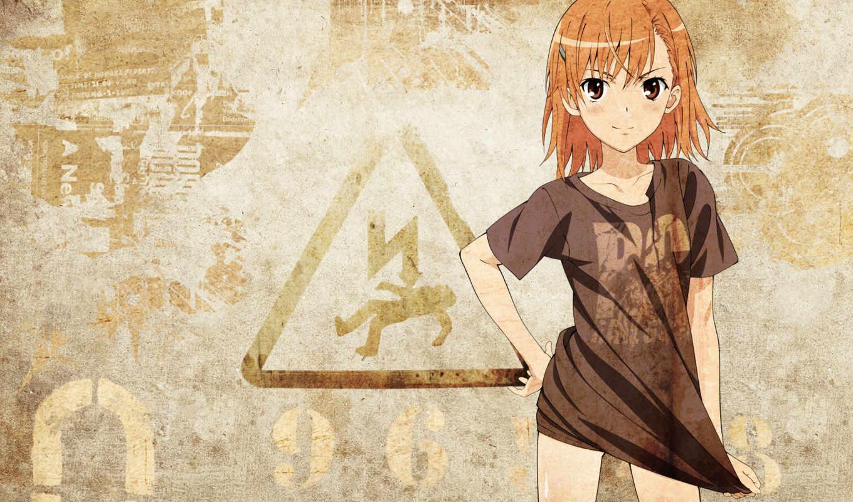 mikoto, misaka, sign, kagaku, railgun, aru, margarita, art, anime,