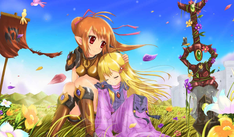 anime, girls, девушка, desktop,