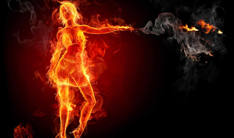 огненная, бесплатные, девушка,