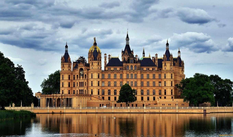 castle, schwerin, германия, озеро, mecklenburg, картинка, vorpommern, мебель