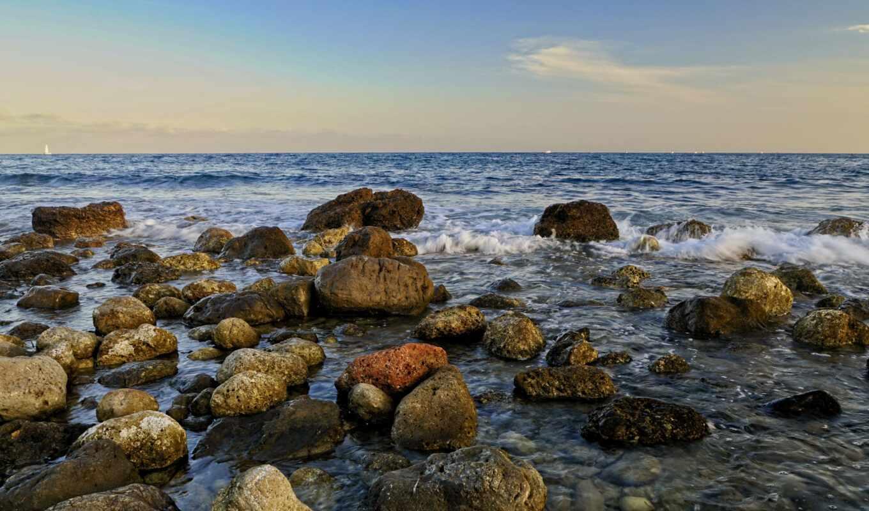 камень, море, волна