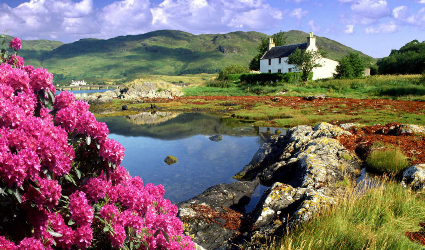 dornie, lochalsh, cottage, scotland, desktop, share,