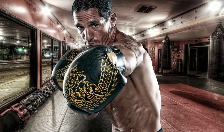 бокс, просмотреть, спорт, тренировка, девушка, ринг, черный, боксеры, пара, смотрите,