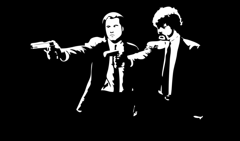 криминальное, фантастика, джексон, samuel, мякоть, black, белое, чёрно, filmu,
