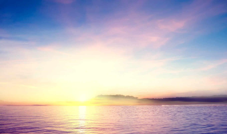 небо, views, озеро, осень, blue, canvas, ночь,