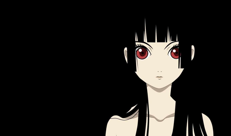 девушка, anime, ай, jigoku, shoujo, enma, адская, aw,