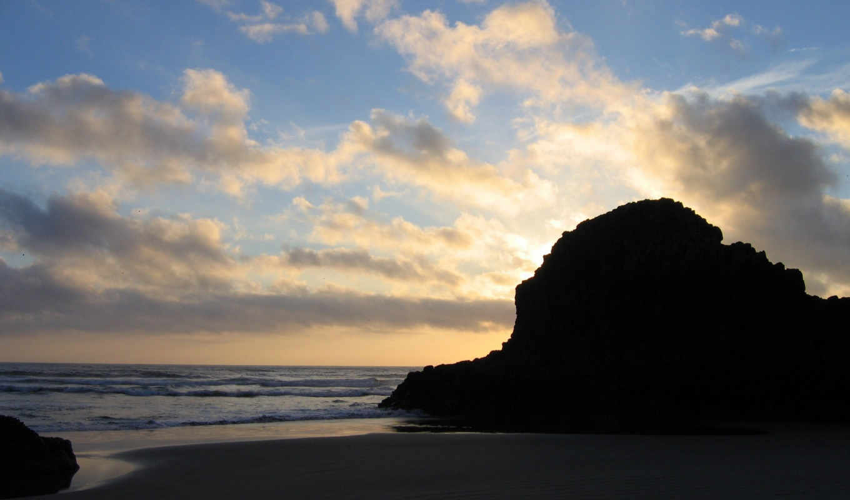 небо, nature, просмотров, море,