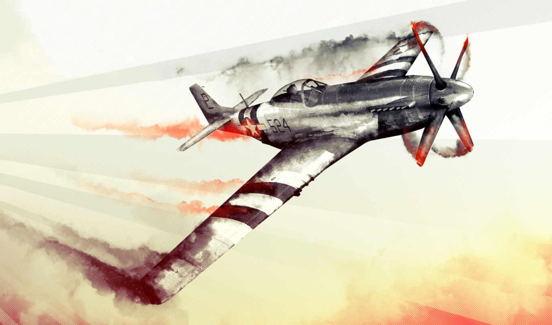 thunder, war, самолет, огонб