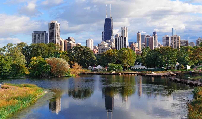 город, chicago, stock,