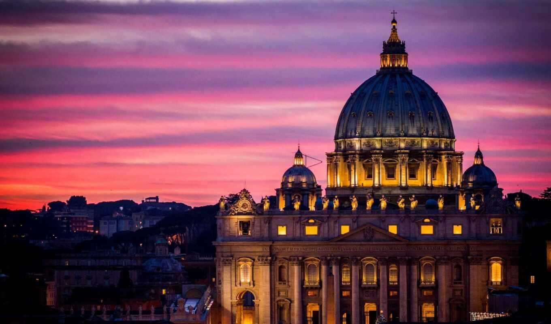 рим, italy, vatican, взгляд, колизей,