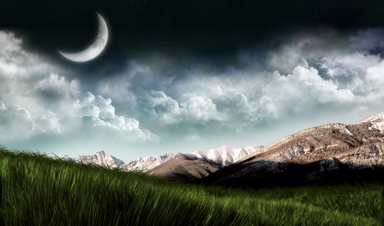 wallpaper, moon, download, sky, увайс, шарипов, видео, mountains, night, элина, over, хьоме, mid, hour, туц,