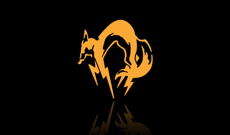 kojima, foxhound, productions, молниеносный, fox, metal, konami, gear, лого, хидео, соболь, кодзима, solid, this,