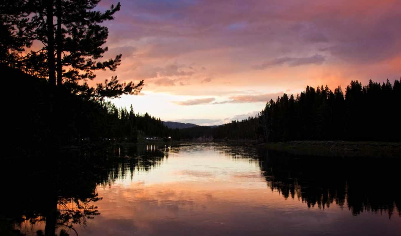 landscape, вечер, река, природа, water, картинка, дорога, озеро,