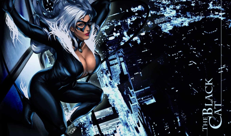 кот, black, felicia, comics, marvel, hardy, маска, женщина,
