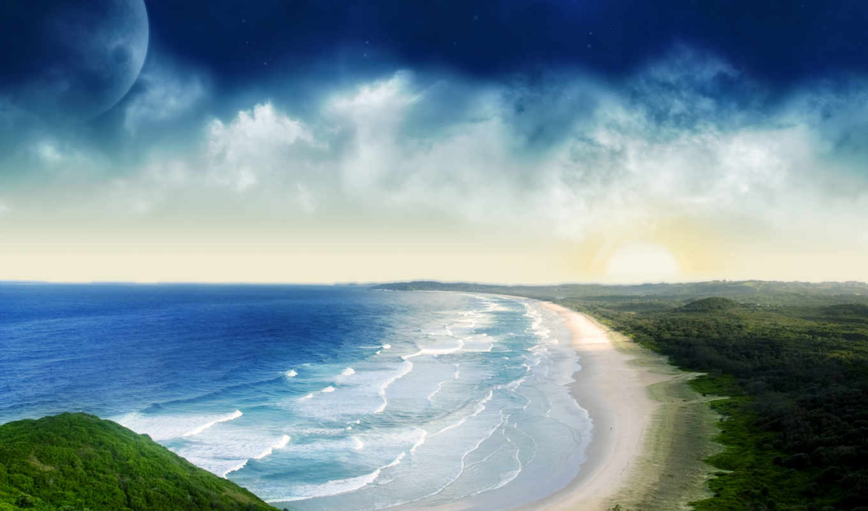 parede, papel, praia, para, tema, digitais, papéis, paisagens, jogos, definir,