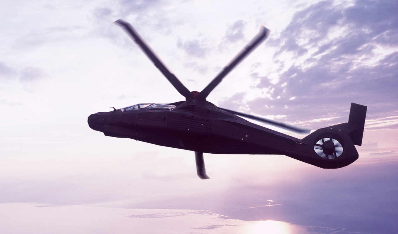 comanche, helicopters, rah, облака, вертолет,