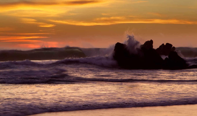 ocean, waves,