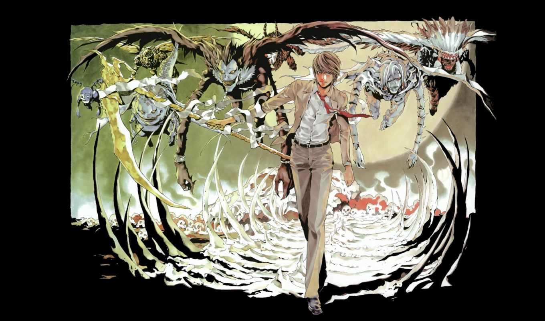 нота, смерть, anime, смерти, notebook,