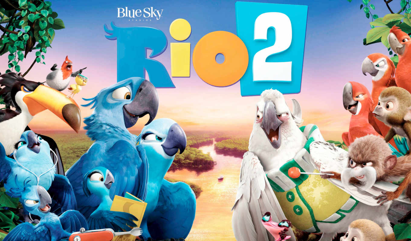 rio, movie, blue, небо, birds, комедия,