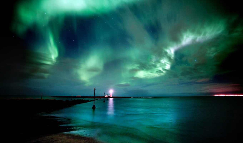 северное, сияние, красивая, природа, ночь, картинка, красивые, north, possible,