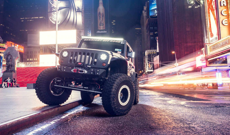 jeep, wrangler, desktop, car, automotive, ночь,