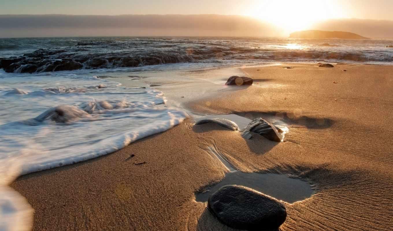 пляж, waves, песок, волна, ocean, душ, beaches, curtain, море, природа,