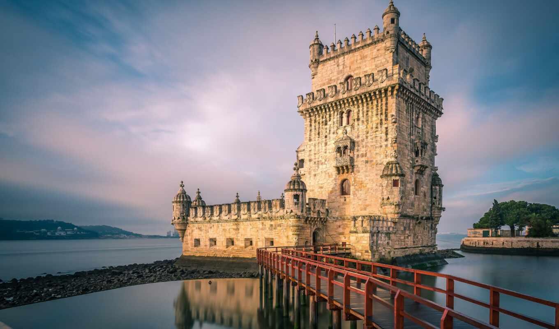 башня, lisbon, экскурсия, замок, russian, португалия, язык, город, slide, belém