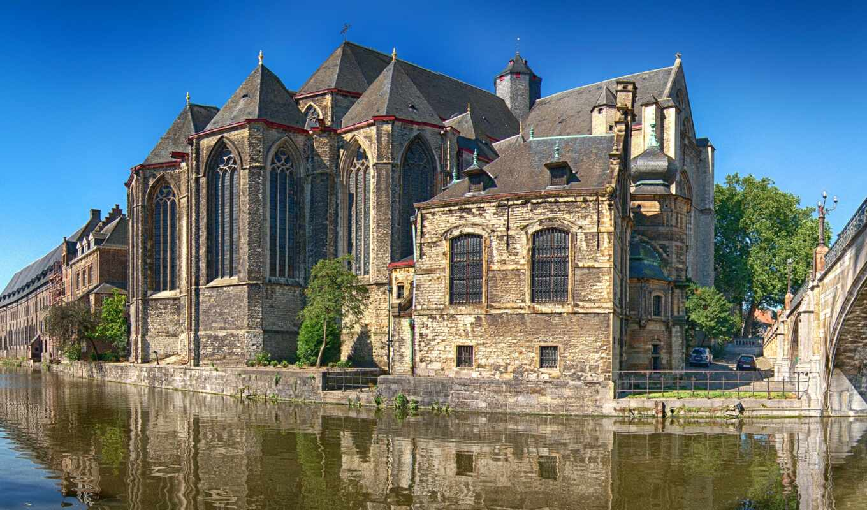 gent, бельгия, ghent, город, храм, house, casa, belgica, water