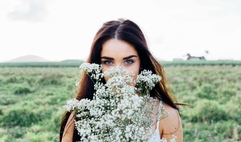 женщина, природа