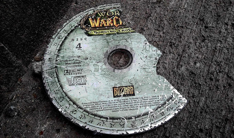 warcraft, world, burning, crusade, непройденный, диск, games, disc,