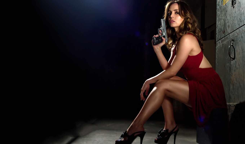 девушки, девушка, пистолетом,
