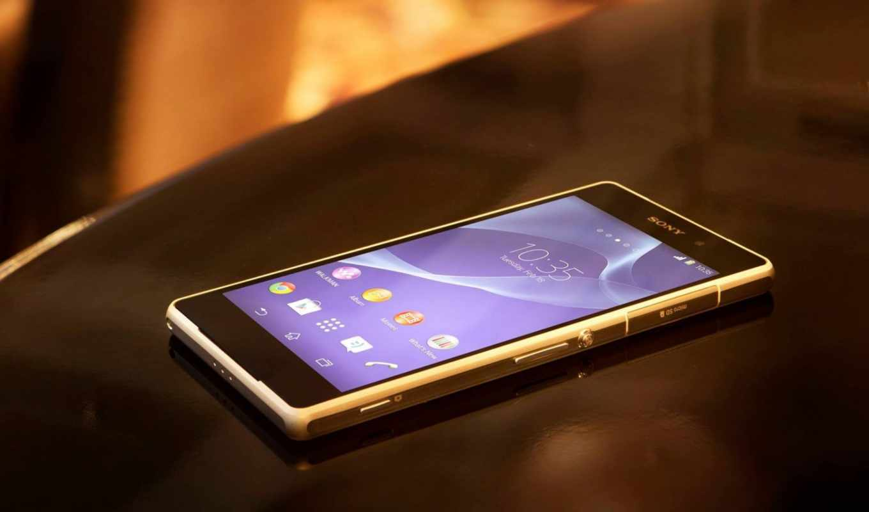sony, xperia, смартфон, стол, черный
